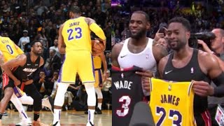 Last Game LeBron vs Wade, EMOTIONAL ENDING! Heat vs Lakers