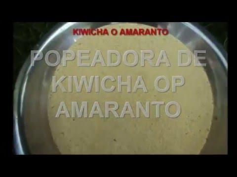 POPEADORA DE KIWICHA O AMARANTO 2 CILINDROS MAQUINOM