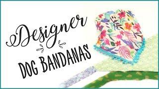 How To Sew a Dog Bandana - Inc Sizes and Instructions
