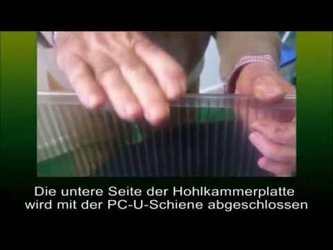 Hohlkammerplatten mit Glasklemmen richtig montieren