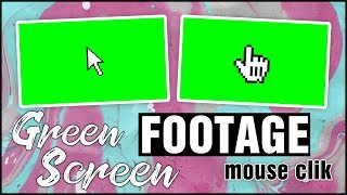 Green Screen Footage (mouse click)  №2