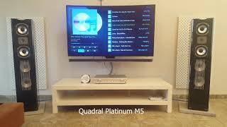 Quadral Platinum M5  vs Monitor Audio Silver RX8