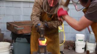 How to Forge a Viking Style Anvil in 90 Seconds