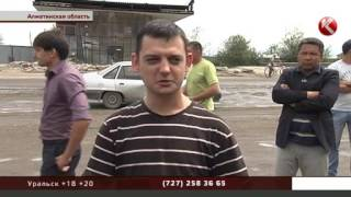 В Алматинской области водители перекрыли дорогу