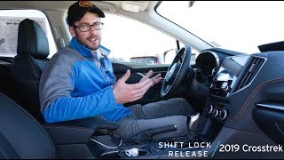 How To: Shift your Subaru into Neutral if battery is dead use Shift Lock
