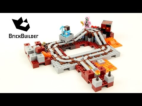 Vidéo LEGO Minecraft 21130 : Les rails du Nether