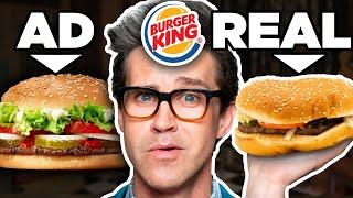 Fast Food Ads vs. Real Life Food (Test)