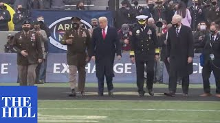 BREAKING: Trump does coin toss at Army-Navy football game