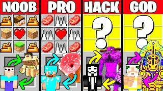 Minecraft Battle: HOW TO PLAY BOSS CRAFTING CHALLENGE - NOOB vs PRO vs HACKER vs GOD Funny Animation