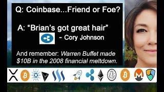 Billions Made in Meltdown, Ripple Cory Johnson Coinbase, 2% Money Laundering Crypto, Softbank