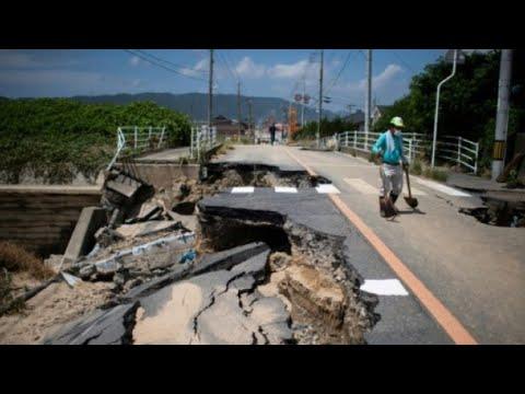 العرب اليوم - اليابان تحت خطر المياه المتجمعة وراء الركام