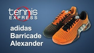 Adidas Barricade 2016 Alexander Men's Tennis Shoes video