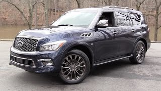 2016 Infiniti QX80 Limited AWD Start Up, Road Test, and In Depth Review