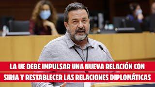 Pineda: «La UE debe impulsar una nueva relación con Siria y restablecer las relaciones diplomáticas»