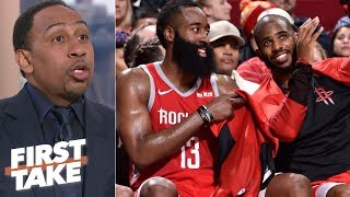 Stephen A. will blame Chris Paul if the Rockets don't win the NBA Finals | First Take