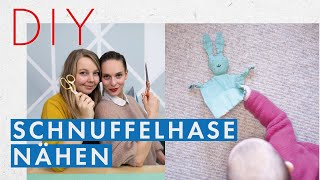 Schnuffelhasen nähen mit DIY Eule | nähen für Babies | Anfängerprojekt