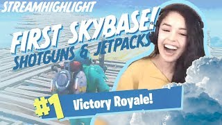 Jetpacks/Shotguns only Skybase Win! - Valkyrae Fortnite Highlights