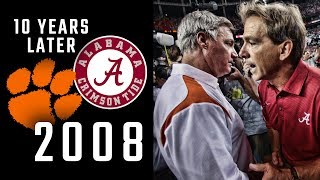 Alabama vs Clemson 2008: Ten Years Later