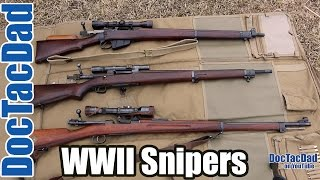 WWII Snipers Rifles   Lee Enfield, Springfield 1903a3, Swedish Sniper M1941