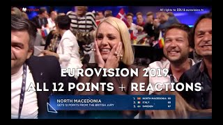 Eurovision Song Contest 2019 All 12 Points   Grand Final Jury Voting   ESC 2019