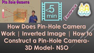 How Does Pin-Hole Camera Work | Inverted Image | How to Construct a Pin-Hole Camera- 3D Model- NSO