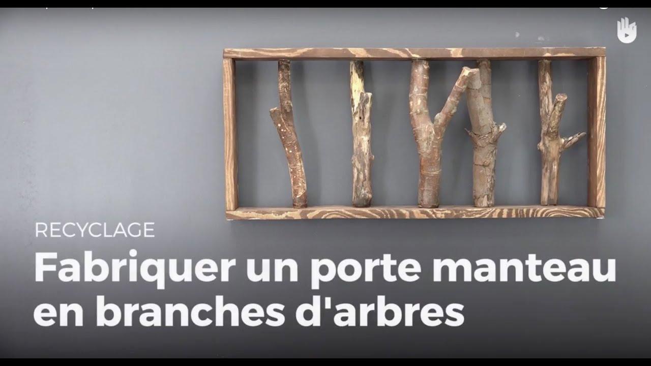 Apprendre fabriquer un porte manteaux en branches d - Fabriquer un porte buche ...