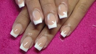 Acrylic Nails   Pink And White French