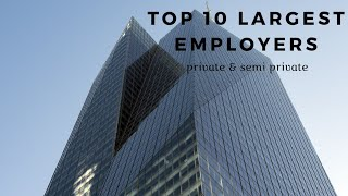 Top 10 largest employers