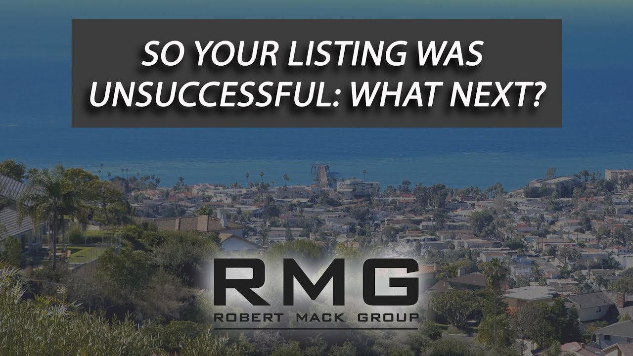 Feeling Defeated After a Failed Listing?
