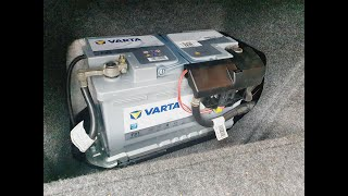 Wechsel der Startbatterie auf 12 V Varta Silver Dynamic AGM #Selbstversorger #Startbatterie #Garten