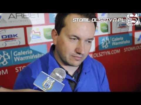 Konferencja prasowa po meczu Stomil Olsztyn - Miedź Legnica