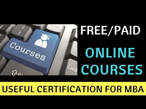 Free/Paid Online Courses with Certification useful for MBA. Udemy ...