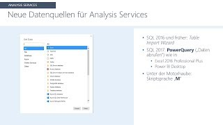 "Neu in SQL Server 2017 - moderne ""Get Data""-Erfahrung"