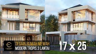 Video Desain Rumah Modern 3 Lantai Bapak Wijaya di  PIK, Jakarta