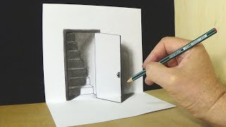 The Door Illusion - Magic Perspective with Pencil - VamosART