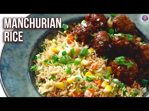 How To Make Manchurian & Fried Rice | Manchurian Gravy Recipe | Veg Corn Rice Recipe By Ruchi
