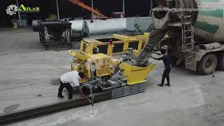 Concrete kerb laying machine teaser and Concrete divider making machine