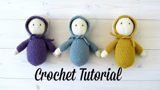 How To Crochet EASY AMIGURUMI Dolls - Crochet Bonnet Babies