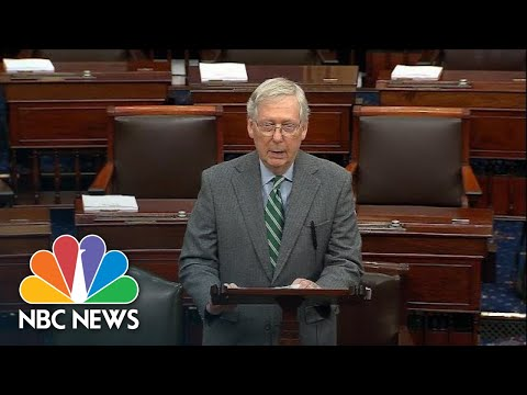 Mitch McConnell: Nancy Pelosi Handled Impeachment Like 'A Happy Bill Signing' | NBC News