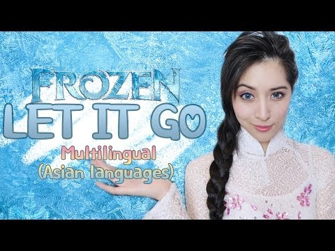 Girl xinh diện áo dài cover Let It Go bằng 7 ngôn ngữ khác nhau