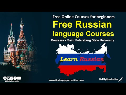 03 Free Russian language Courses for beginners by Coursera & ST ...
