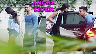 Tiger Shroff Spotted With Girlfriend Disha Patani Outside GYM