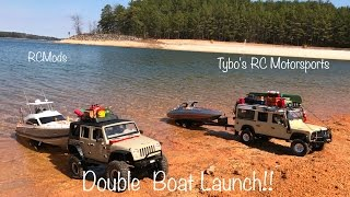 **RC Boat Launch/DOUBLE with RCMods***Tybo's RC Motorsports** Pure RC 4x4