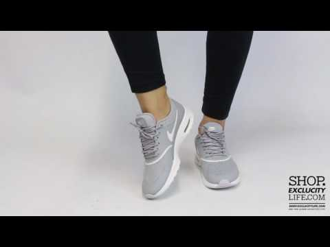 Women's Nike Air Max Thea Matte Silver On feet Video at Exclucity