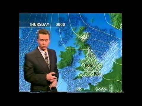 BBC Weather 6th December 1995; maximum of  -1.0°C at Luton
