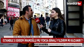 İSTANBUL'U EKREM İMAMOĞLU MU YOKSA BİNALİ YILDIRIM MI KAZANIR ?