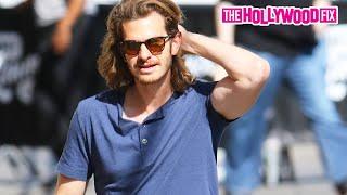 Эндрю Гарфилд, Andrew Garfield Arrives To Jimmy Kimmel Live! 9.3.15 - TheHollywoodFix.com