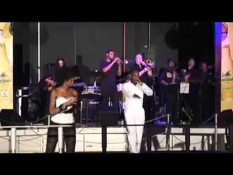 Brent Charles & Bianca Clark with HOUSE OF POWER Band at Clevelander Hotel South Beach