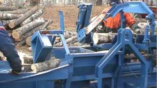 Vedmaskin Testfas 5, Homemade Firewood Processor test 5