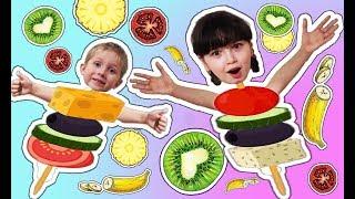 Канапе // Мини - бутерброды // Аня и Аскар готовят// Дети кулинары// От омлета до десерта